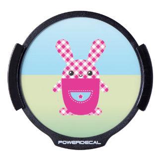 Conejo a cuadros de Kawaii Sticker LED Para Ventana