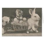 Conejo adorable de Pascua del vintage, cumpleaños Felicitación