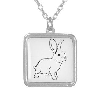 Conejo adorable del dibujo animado dulce del colgante cuadrado