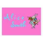 Conejo Alicia en tarjetas de visita del ~ del país