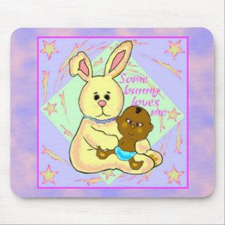 Conejo amarillo Mousepad Alfombrillas De Ratón