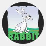 Conejo amistoso del niño pegatinas redondas