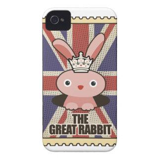 Conejo animal GB Reino Unido de Wellcoda gran iPhone 4 Protectores