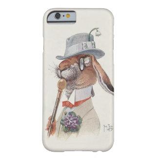 Conejo antropomorfo del vintage divertido funda para iPhone 6 barely there