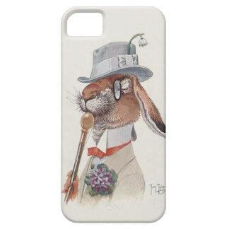 Conejo antropomorfo del vintage divertido funda para iPhone 5 barely there
