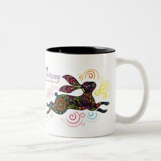 Conejo artístico taza dos tonos