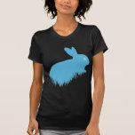 Conejo azul camisetas