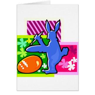conejo azul pascua egg.png de la sombra de la tarjeta pequeña