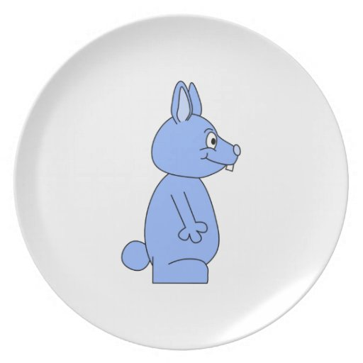 Conejo azul plato
