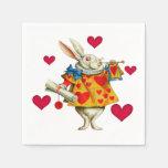 Conejo blanco 1 servilletas de papel