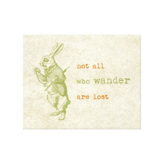 Conejo blanco, Alicia en el país de las maravillas Impresión En Lienzo Estirada