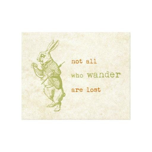 Conejo blanco, Alicia en el país de las maravillas Impresion En Lona
