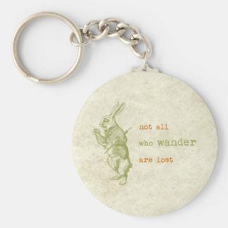 Conejo blanco, Alicia en el país de las maravillas Llavero Redondo Tipo Pin
