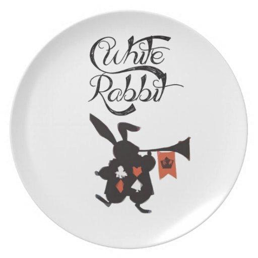 Conejo blanco, Alicia en el país de las maravillas Platos Para Fiestas