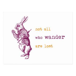 Conejo blanco, Alicia en el país de las maravillas Tarjetas Postales