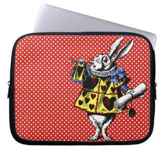 Conejo blanco Alicia en manga del ordenador portát Funda Portátil