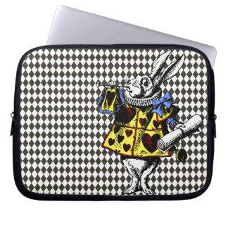 Conejo blanco Alicia en manga del ordenador portát Fundas Portátiles