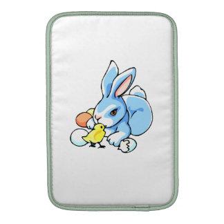 conejo blanco azul chick png fundas macbook air