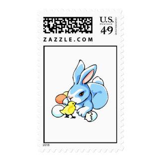 conejo blanco azul chick png