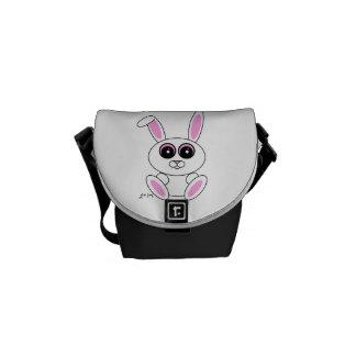 Conejo blanco bolsas de mensajeria
