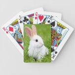 Conejo blanco cartas de juego