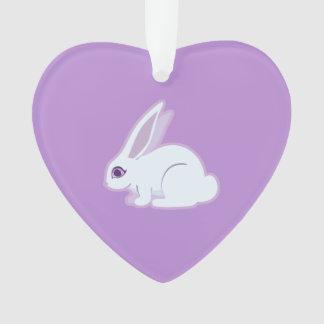 Conejo blanco con arte largo de los oídos