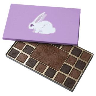 Conejo blanco con arte largo de los oídos caja de bombones variados con 45 piezas