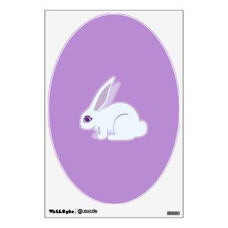 Conejo blanco con arte largo de los oídos vinilo