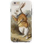 Conejo blanco de Alicia en arte del vintage del Funda Para iPhone 6 Plus Tough