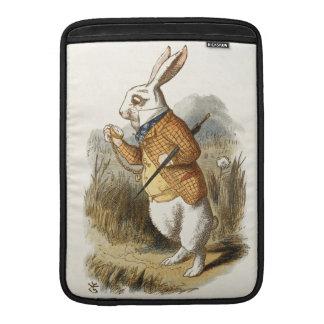 Conejo blanco de Alicia en arte del vintage del Fundas Macbook Air