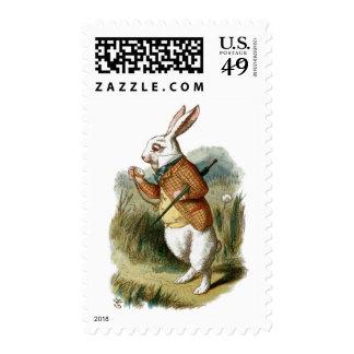 Conejo blanco de Alicia en el país de las Estampillas