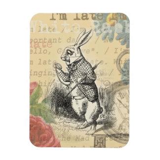 Conejo blanco de Alicia en el país de las Imanes De Vinilo