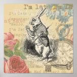 Conejo blanco de Alicia en el país de las maravill Impresiones