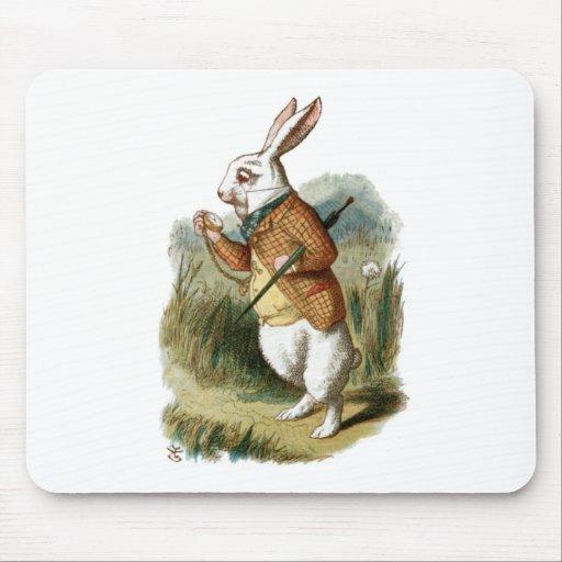 Conejo blanco de Alicia en el país de las maravill Tapete De Ratones