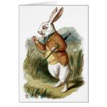 Conejo blanco de Alicia en el país de las maravill Felicitacion