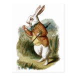 Conejo blanco de Alicia en el país de las maravill Tarjeta Postal