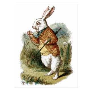 Conejo blanco de Alicia en el país de las Postales