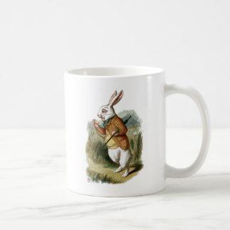 Conejo blanco de Alicia en el país de las Taza De Café