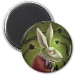 Conejo blanco del vampiro imanes de nevera