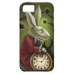 Conejo blanco del vampiro iPhone 5 carcasas