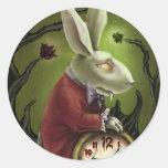 Conejo blanco del vampiro pegatina