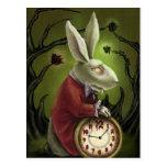 Conejo blanco del vampiro tarjetas postales