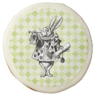 Conejo blanco del vintage - reina de corazones