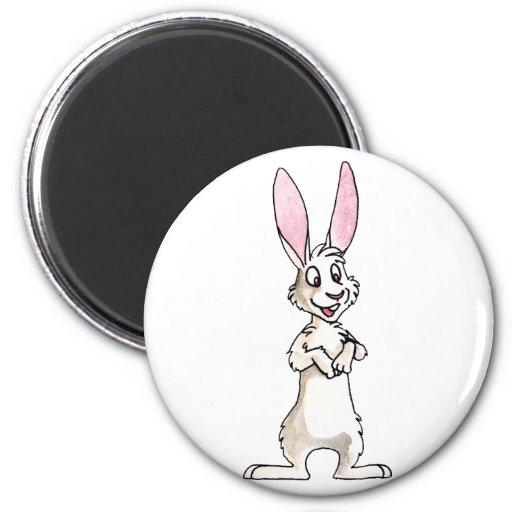 Conejo blanco derecho imán para frigorifico