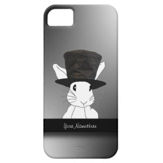 Conejo blanco en caso del iPhone 5 del sombrero de iPhone 5 Protector