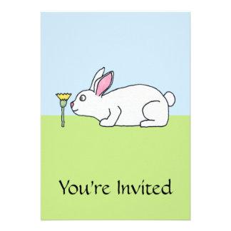 Conejo blanco En un césped Anuncios Personalizados