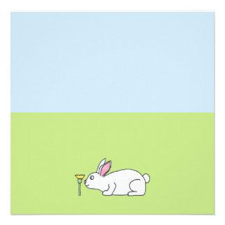 Conejo blanco En un césped Comunicado Personalizado