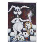 Conejo blanco felicitacion