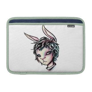 Conejo blanco funda para macbook air