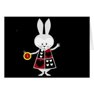Conejo blanco - las aventuras de Alicia en el país Tarjeta